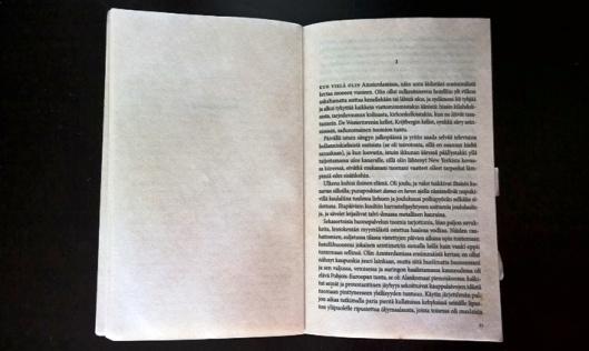 Monen monta sivua täynnä pienen pientä tekstiä.