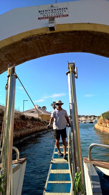 Kas näin, saapuminen takaisin Cala'n Boschin satamaan.