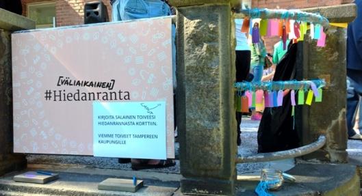 Kaupungille saa antaa vinkkejä Hiedanrannan käyttötoiveista.