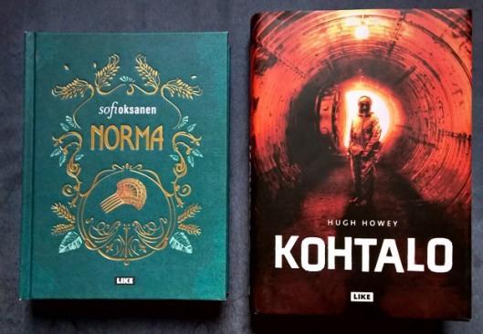 Vuoden odotetuimmat kirjat: Kohtalo ja Norma, siinä järjestykessä.