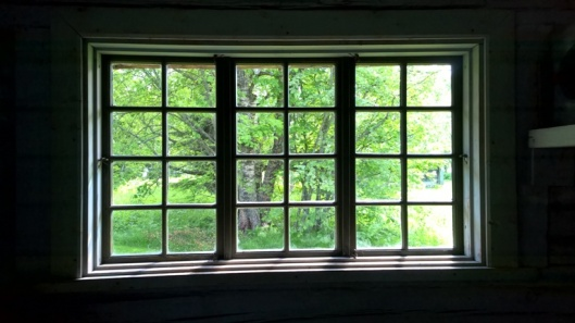 Maisema ikkunasta.