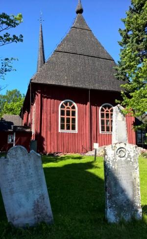Kristiinankaupungin vanha puukirkko.