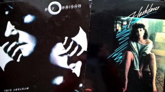 Kuuntelin aikanaan paljon tuota Roy Orbisonin levyä. Ihanaa musiikkia. Flashdance tuli nähtyä elokuvana yhden jos toisenkin kerran.