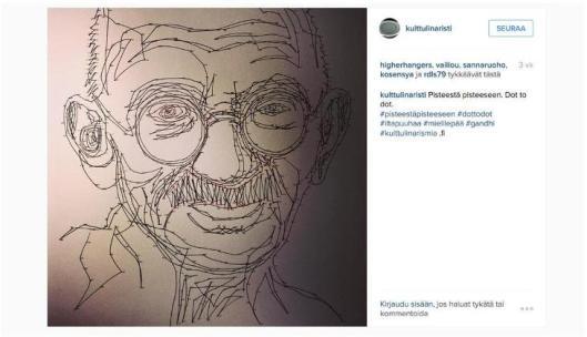 Gandhi pisteestä pisteeseen -tekniikalla.