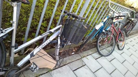 Pyöräparkki edellisen vieressä.
