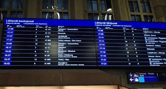 Kyllä, Moskovaan menee juna.